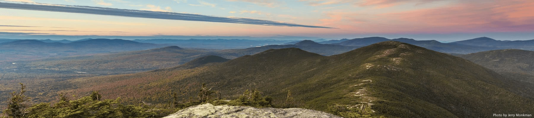 Maine's mountain region at dawn.